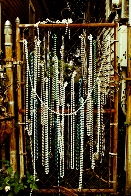 Mardi Gras beads, Bywater. Photo by Marcia Yapp